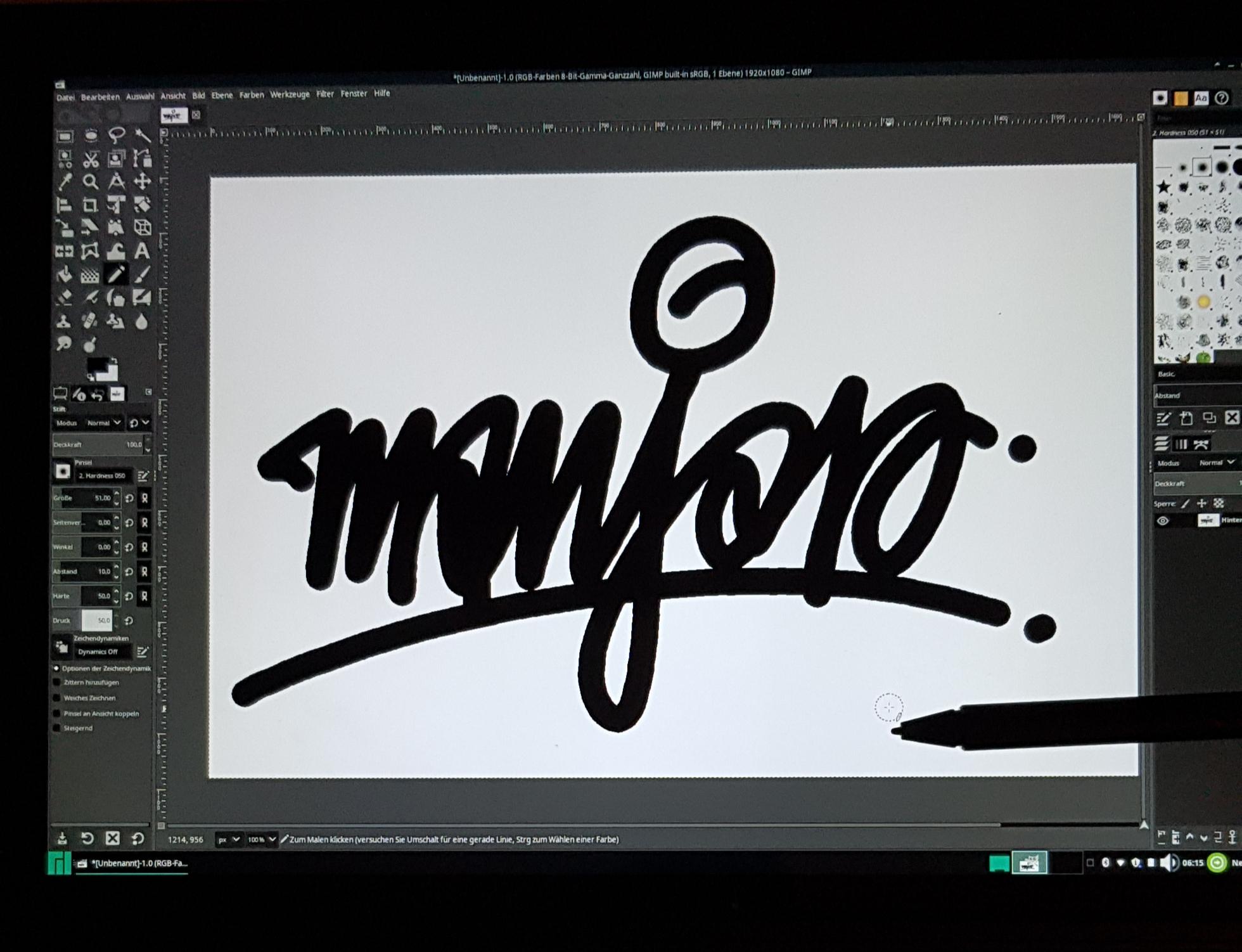 Manjaro 18.0.4 auf dem Thinkpad X1 Tablet Gen. 1, GIMP