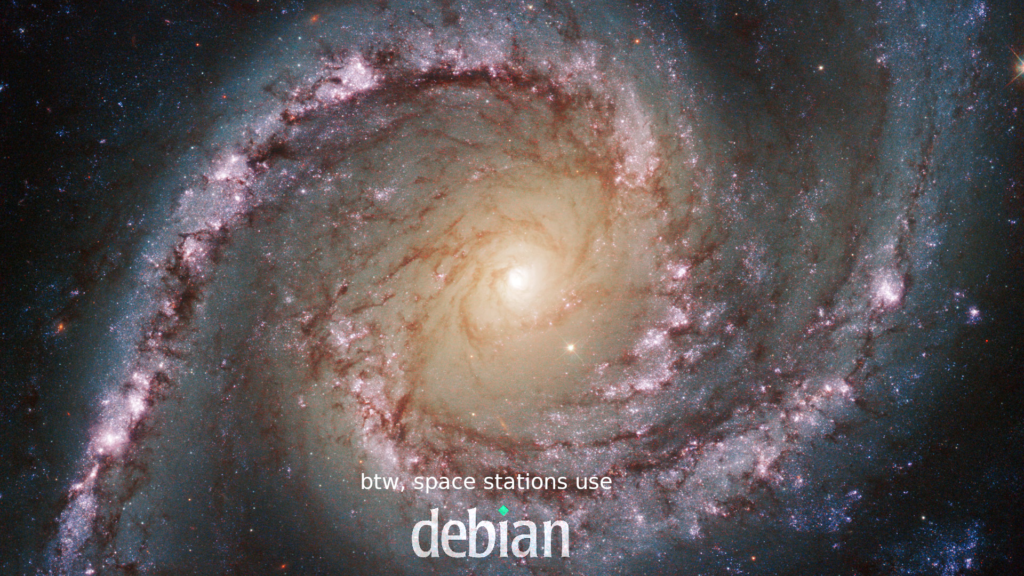 btw, space stations use debian